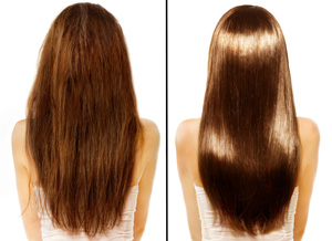 before and after keratin